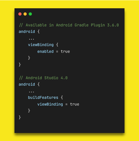 Please note the difference between Android Studio 3.6 and Android Studio 4.0