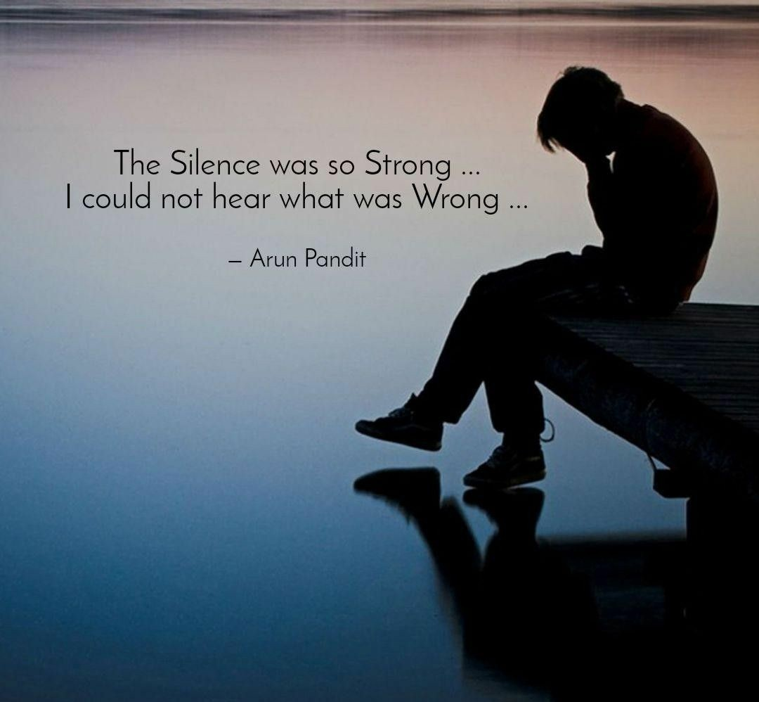 Depression Quote Introspective Wallpaper With Quote On Depression And Silence.