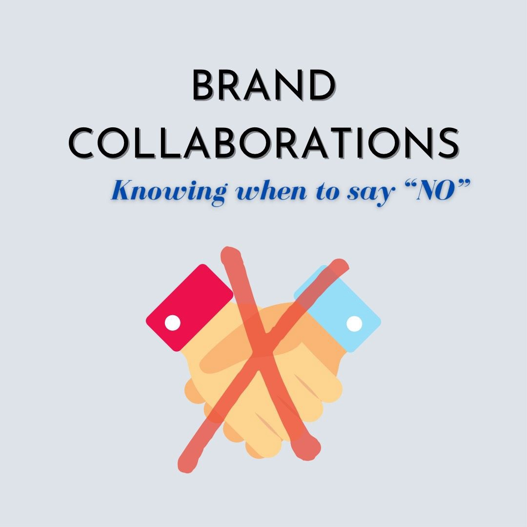 Do you jump at every opportunity for brand collaborations?