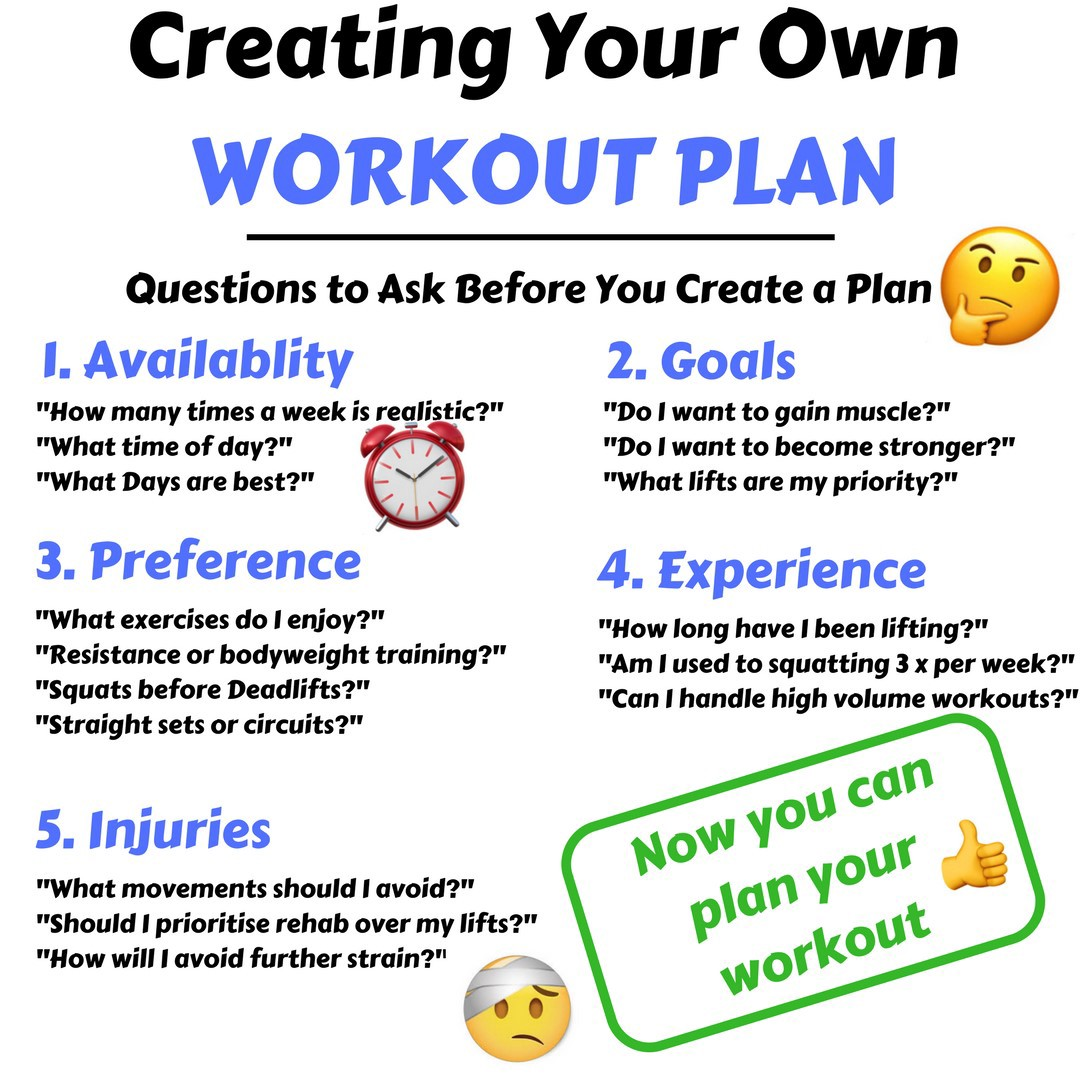 5 Things To Consider When Creating Your Workout Plan