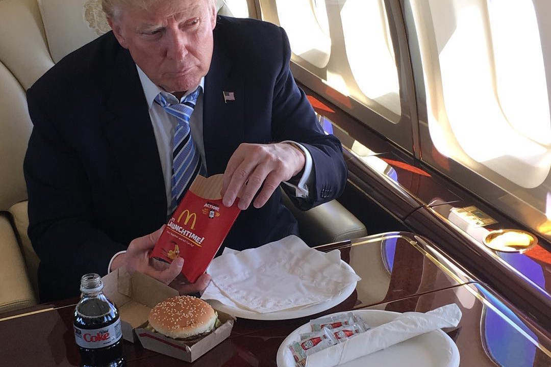 Image result for trump with big mac