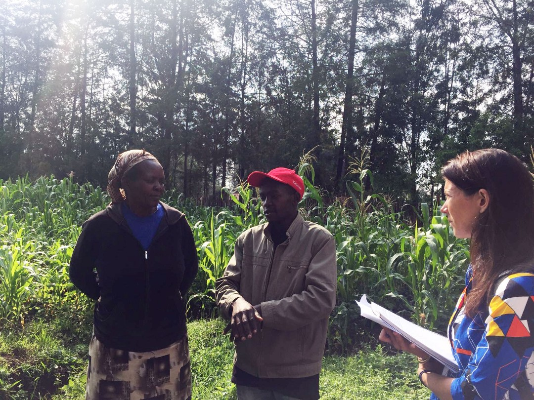 Interviewing farmers in Kenya