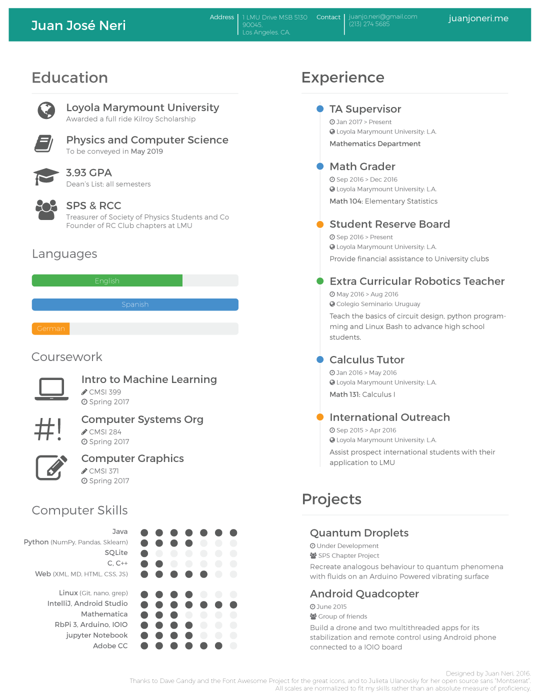 A Resume That Got Me An Interview For Google Engineering Practicum