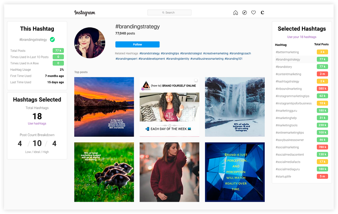 new curate chrome extension for instagram