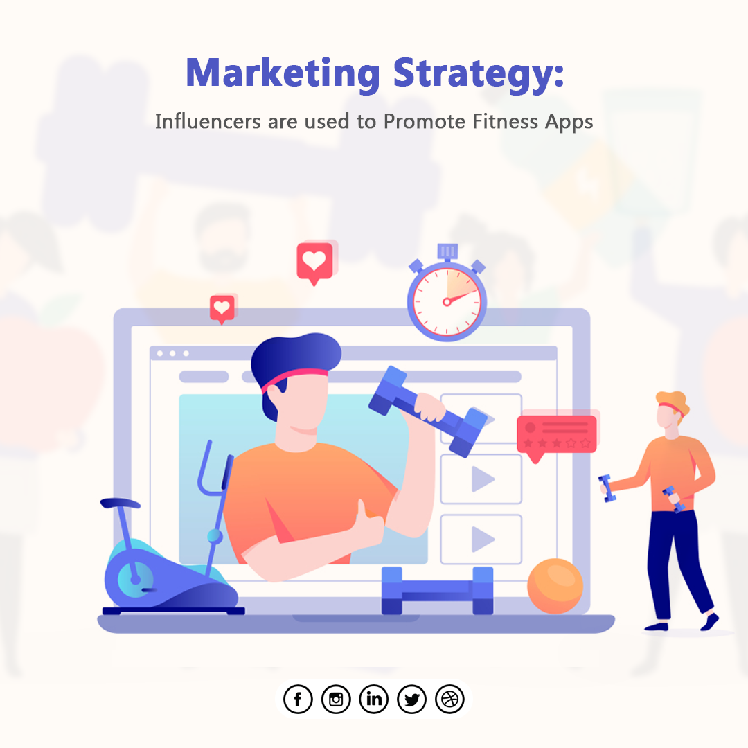 Marketing Strategy: Influencers are used To Promote Fitness Apps