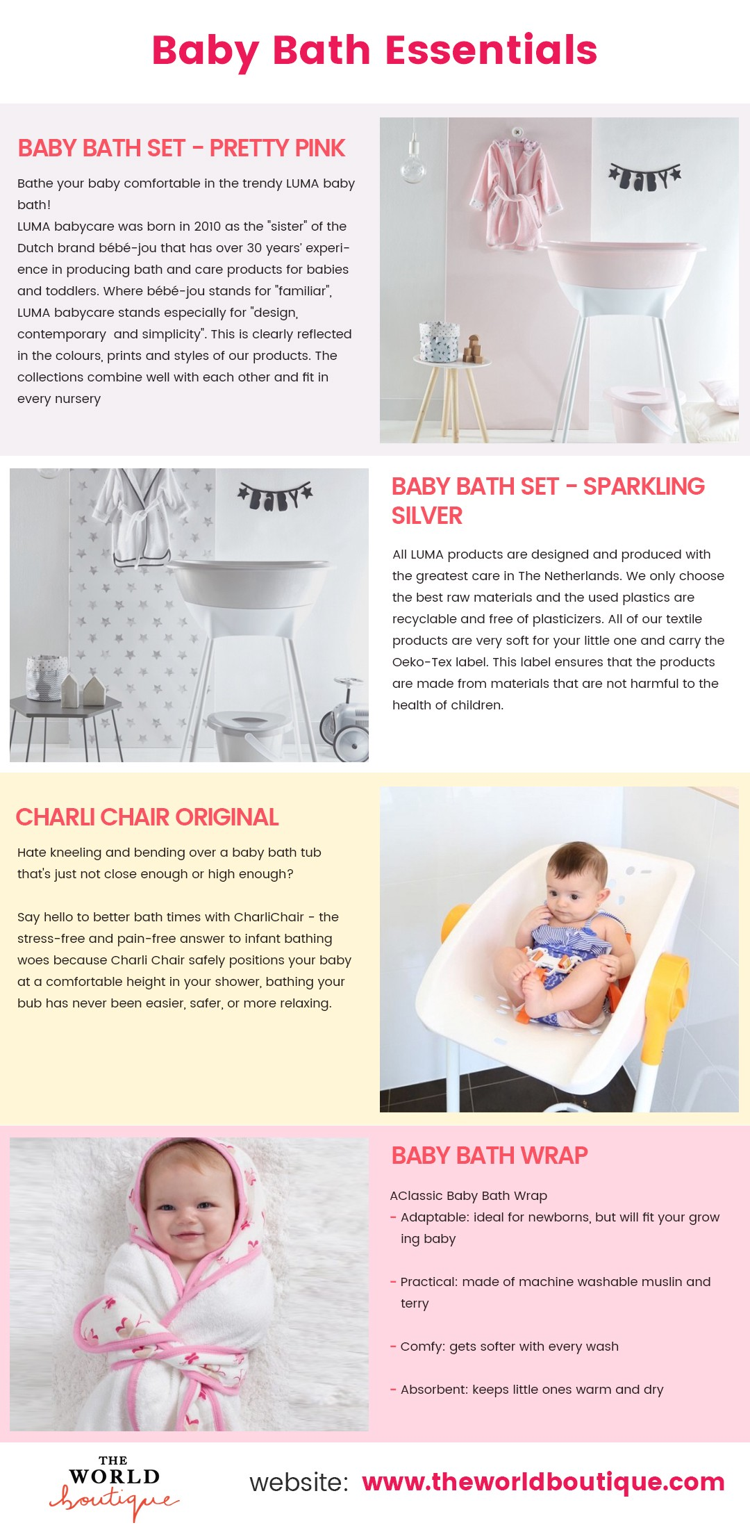 Baby Bath Essentials – The World Boutique — Online Baby Boutique ...