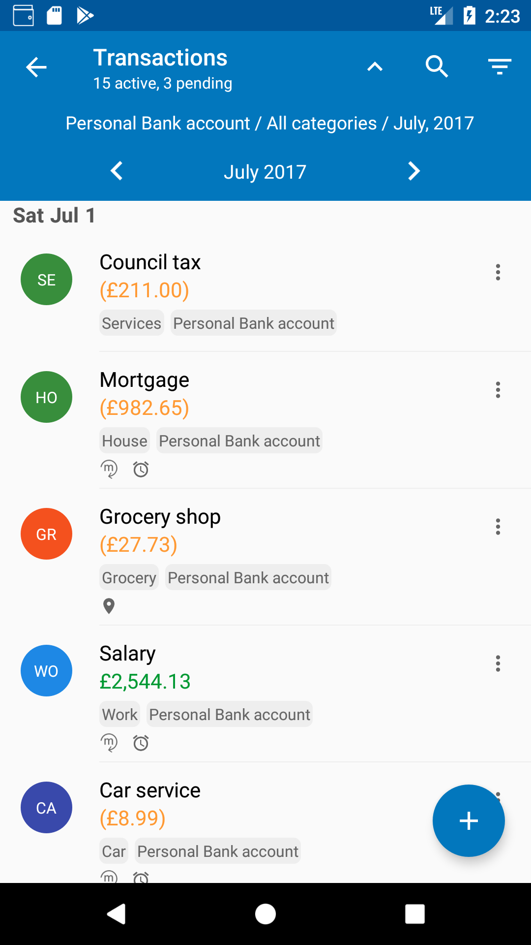 new transaction list on antpocket antpocket personal budget
