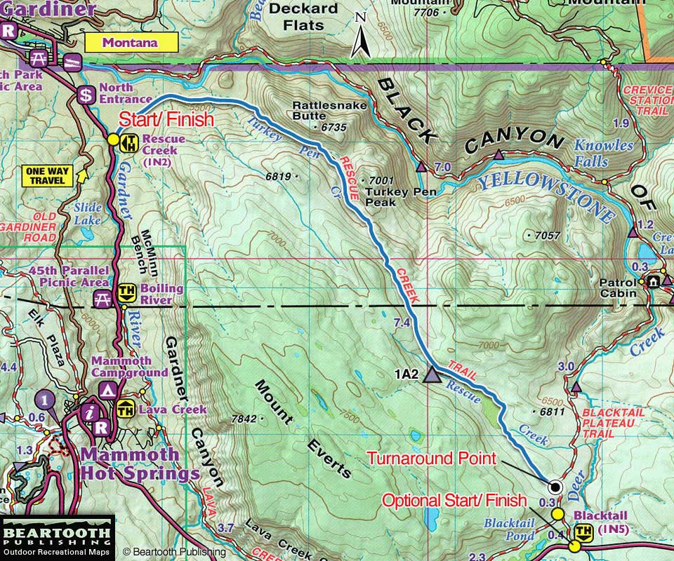 Yellowstone national park great runs rescue creek trail sciox Image collections