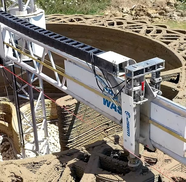 3D printer arm for semi-automated construction
