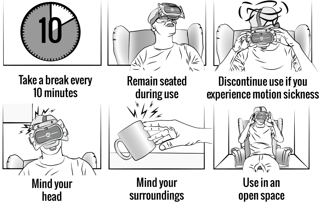 Things to keep in mind while using VR headset
