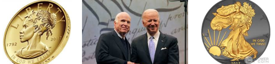 Former Vice President Joe Biden present the Liberty Medal to Senator John McCain