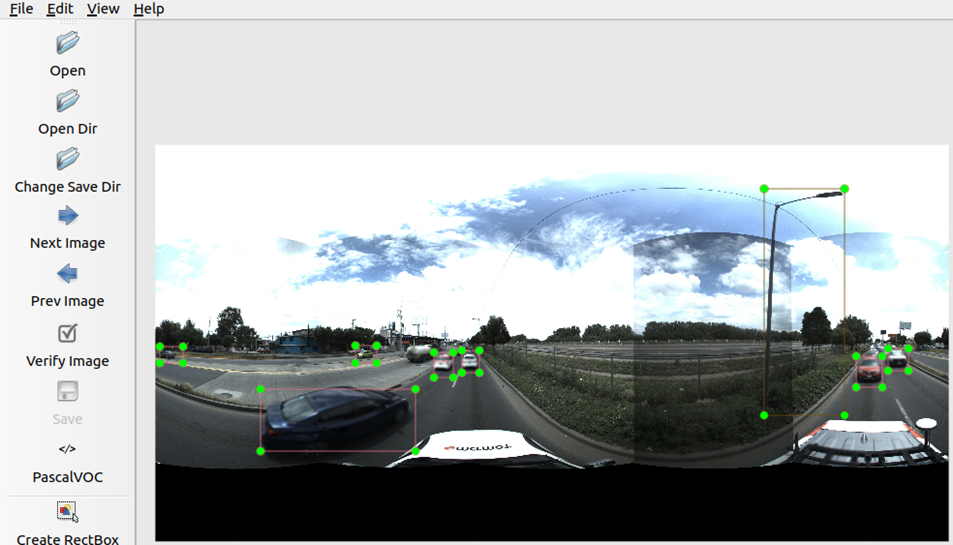 Using labelImg in annotating an image from the TomTom dataset. Source: TomTom andOmdena