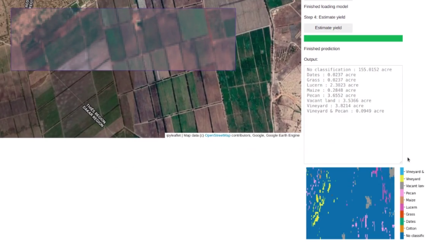 Crop yield application features and layout source: Omdena