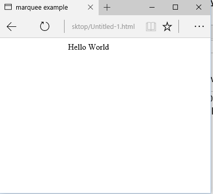 marquee tag in html