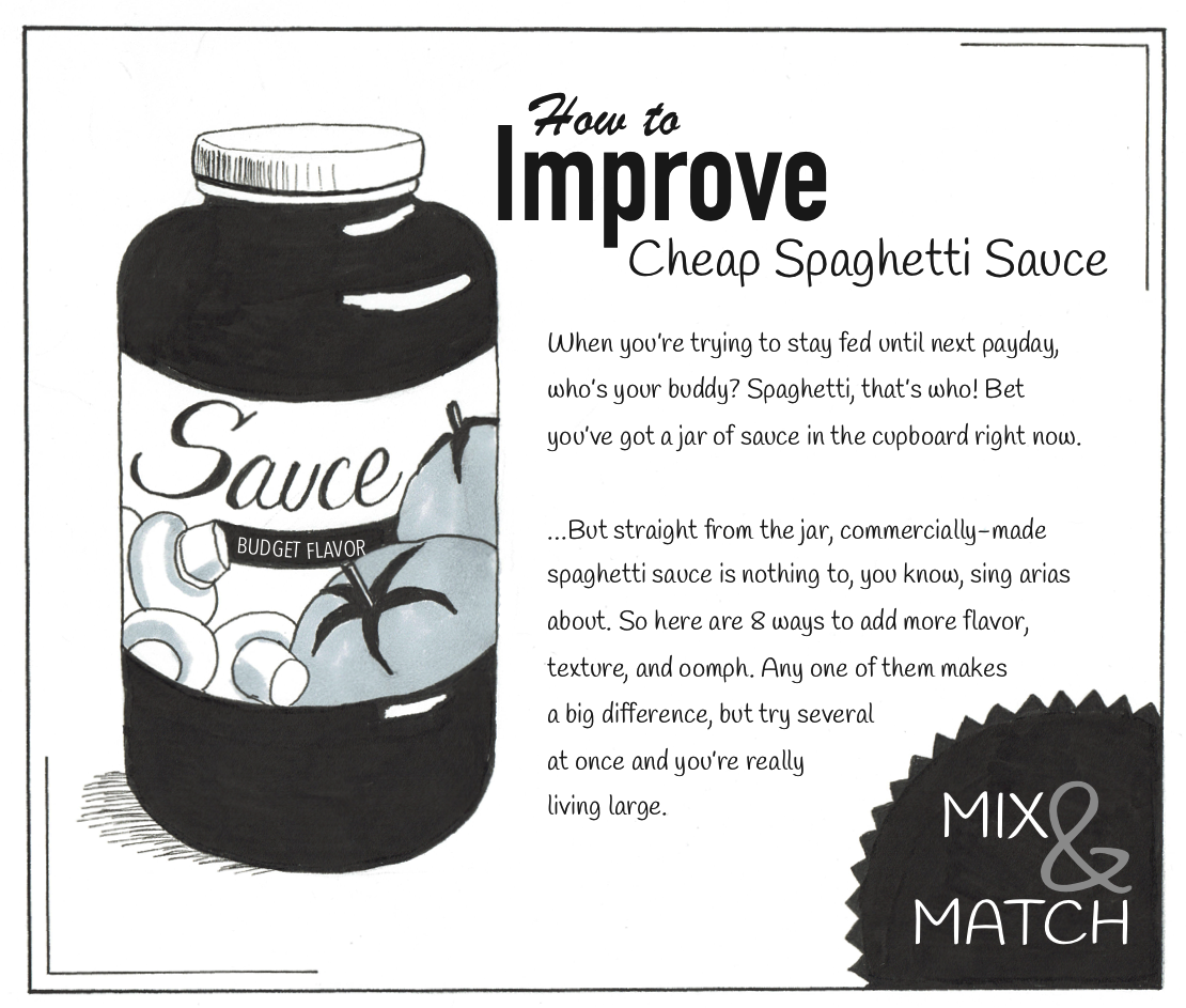 How to improve cheap spaghetti sauce