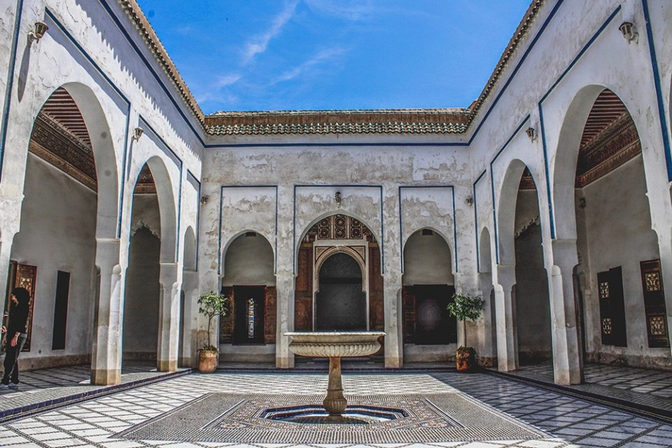 Slow travel: Inner courtyard, Morocco