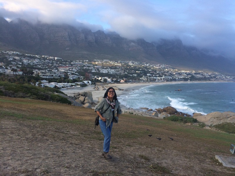 Traveling while aging: the author in hills above Capetown