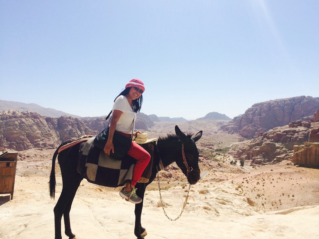 Traveling while aging: author on a burro