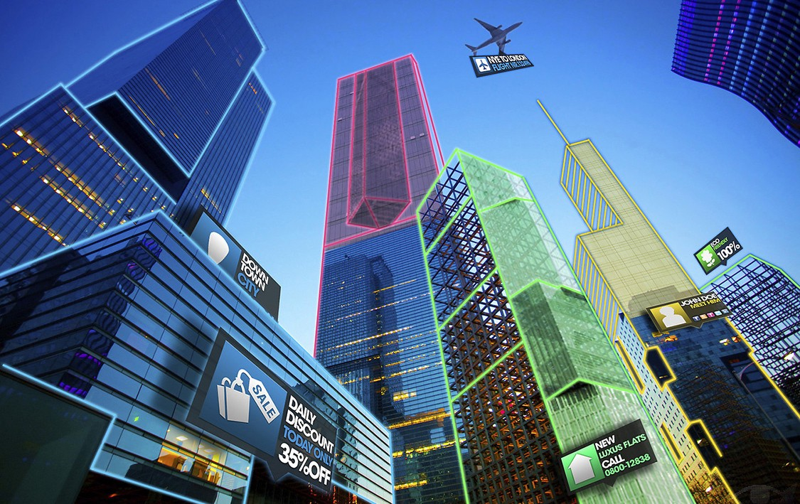 Image result for augmented reality future city