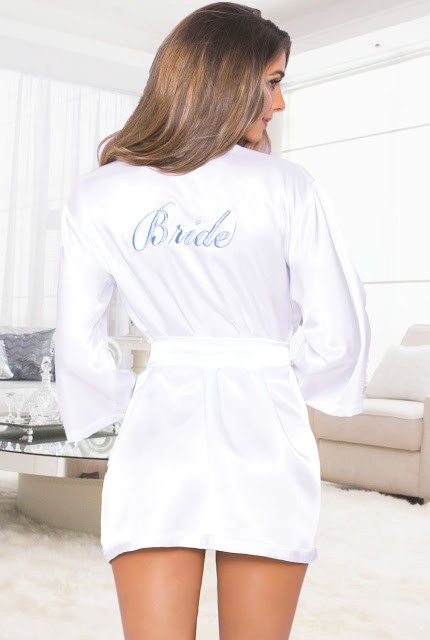 de9bdf95041 Every bride needs that special wedding day robe to get ready in on her big  day