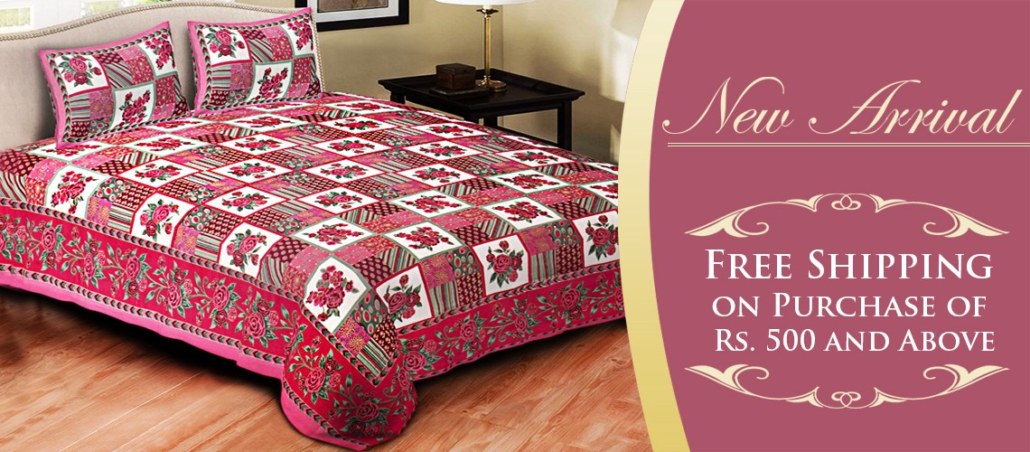 One Can Find A Variety Of Bed Sheets. There Are Various Types And Designs  Of Bed Sheets Found.