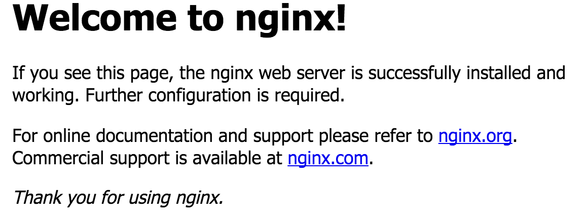 Image result for welcome to nginx