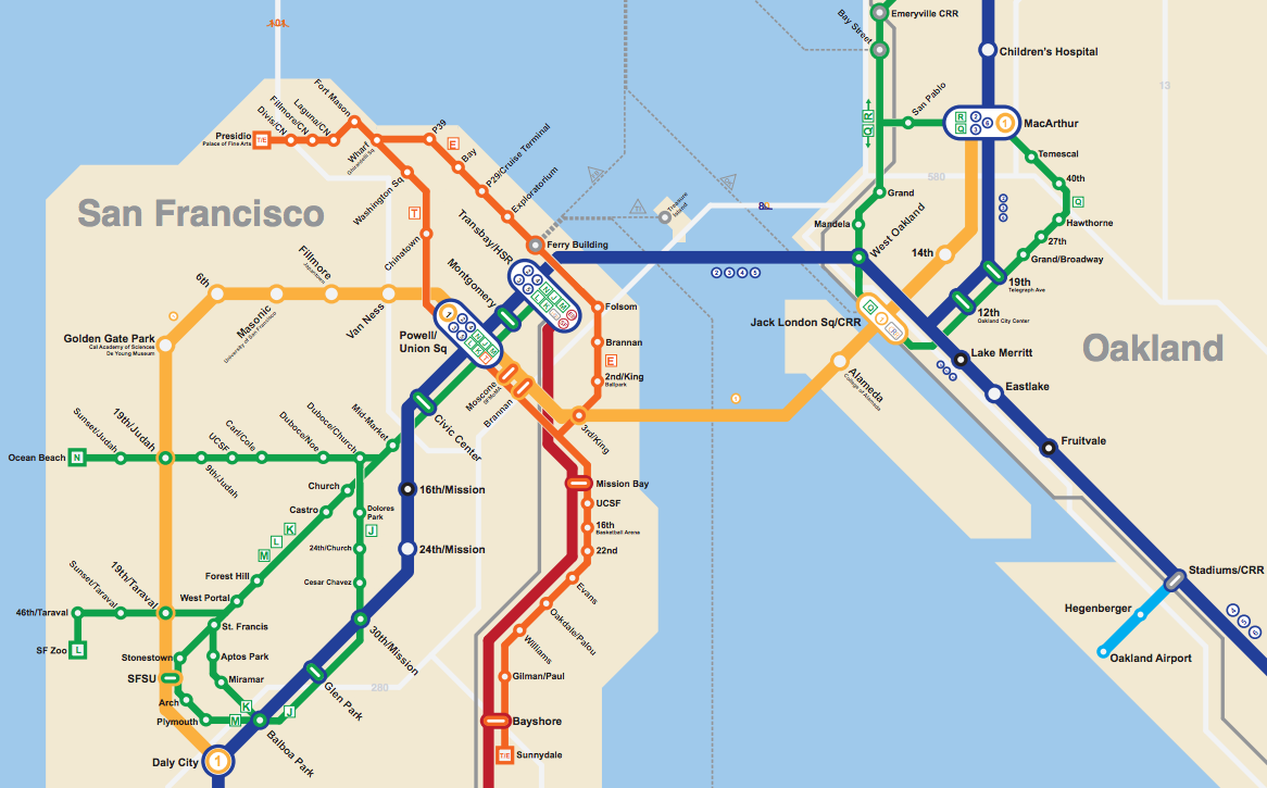 Bay Area The BART Metro Map Future Travel - San francisco rail map