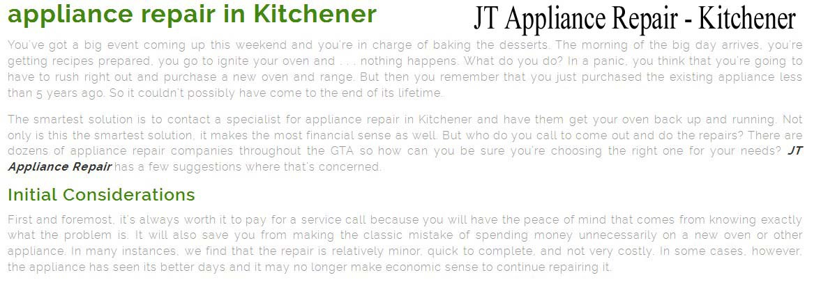 top appliance repair kitchener on  u2014 jt appliance repair  519  957 u20132057  rh   medium com