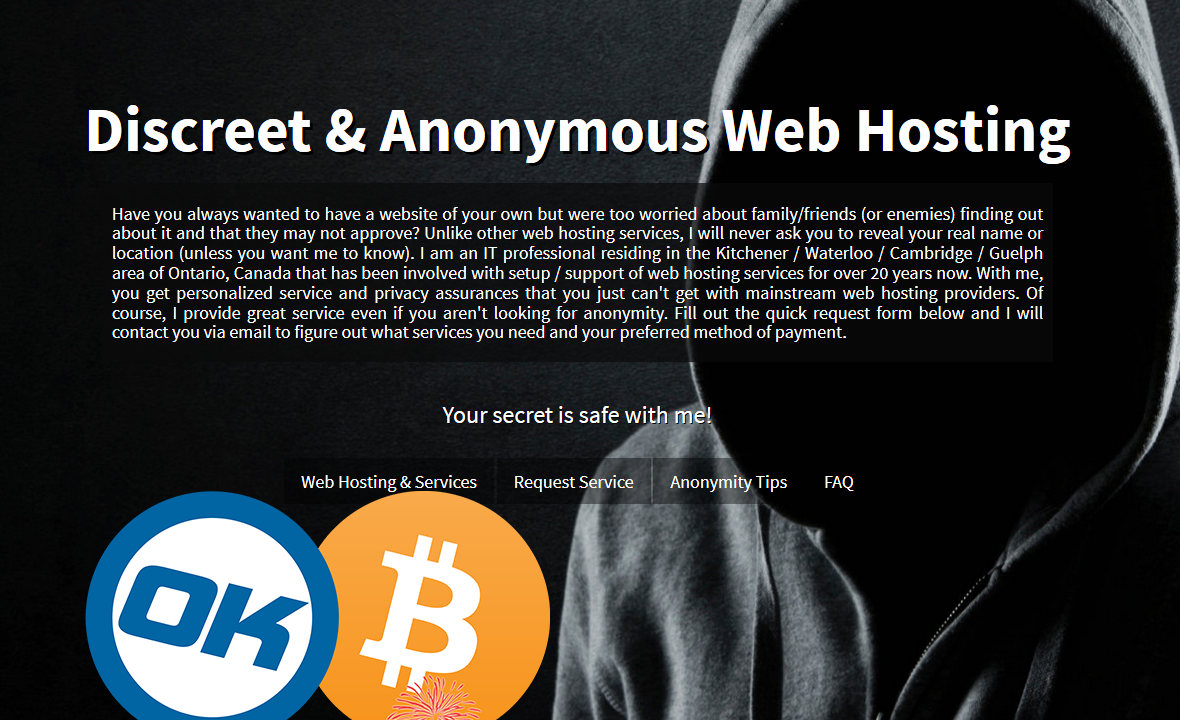 Bitcoin anonymous web hosting