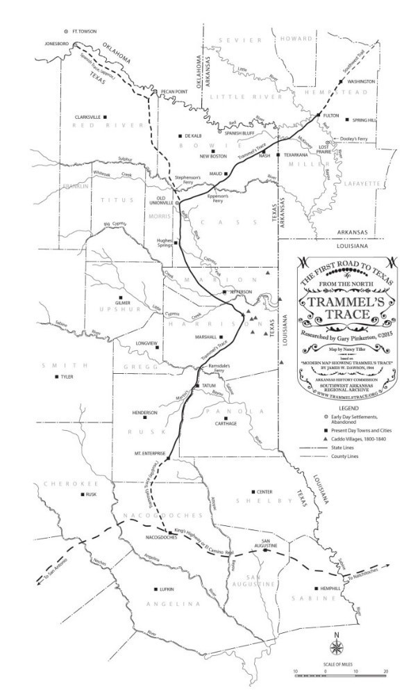 Trammels Trace The First Road To Texas From The North