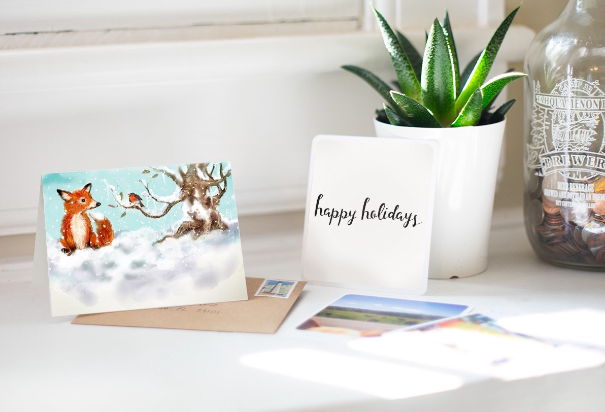 Make Holiday Cards With Paper Mail With Felt A Space To Create