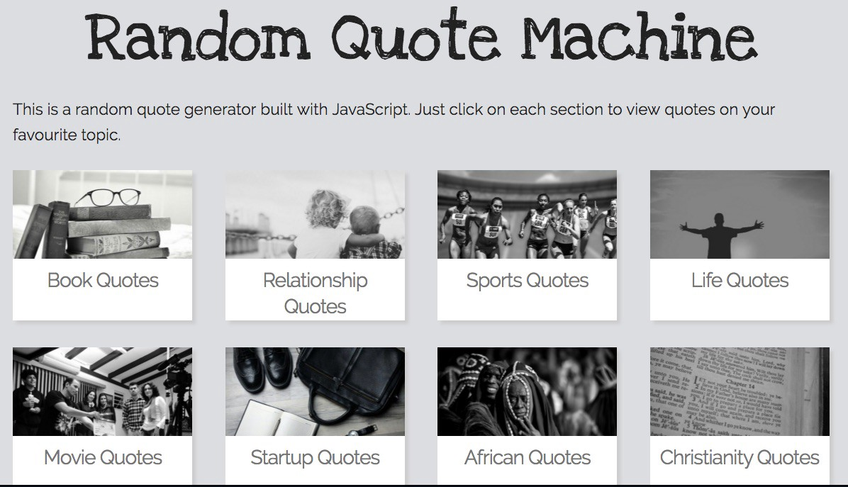 Quote Generator Building A Random Quote Machine  Freecodecamp