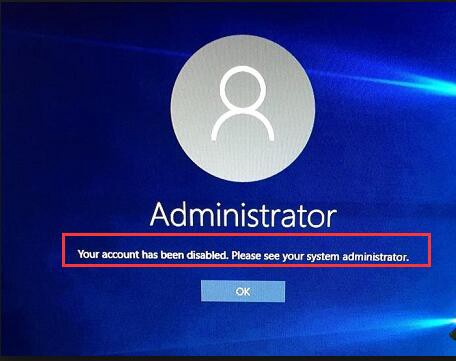 windows 10 enable administrator account locked out