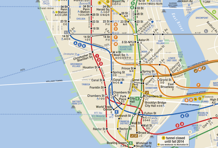 A More Complete Transit Map for New York New Jersey
