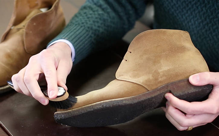 See That Your Boots Or Shoes Are Completely Dry Before You Brush Them Because Even The Least Bit Of Moisture Can Leave A Permanent Stain On Suede