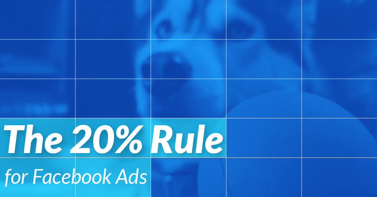 facebook ads template to help you with the 20 text rule