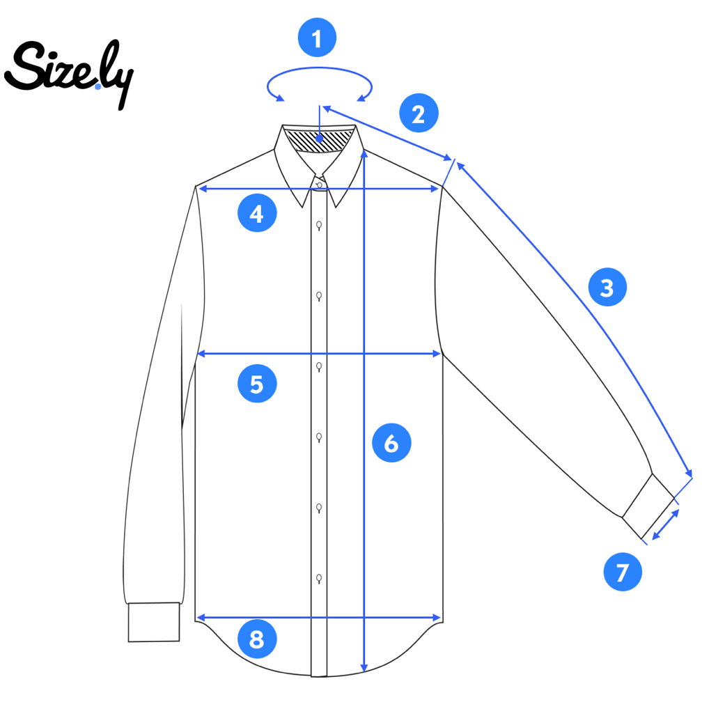 How To Measure A Dress Shirt Sizely Medium