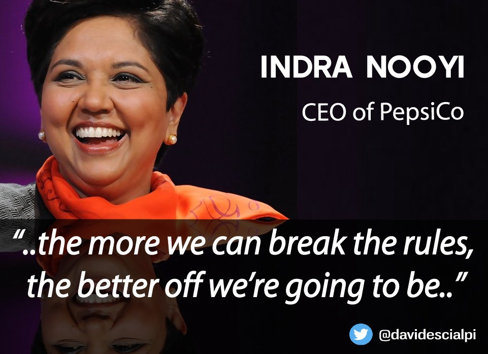 Indra Nooyis Quotes About Success And Leadership Ceo Of Pepsico