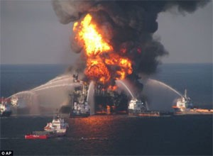 Deepwater Horizon BP Oil Rig Image