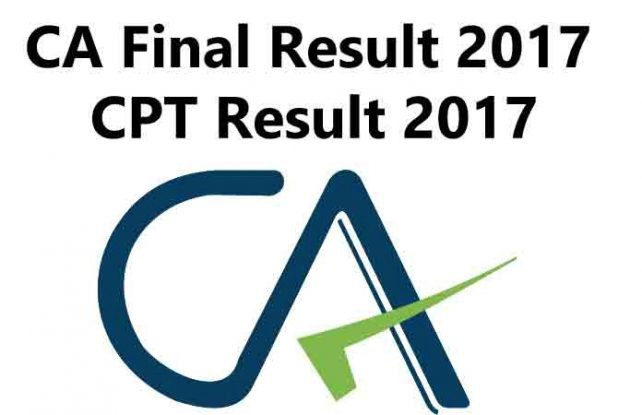 Icai Ca Final Result 2017 Cpt Result 2017 Declared Click To Check