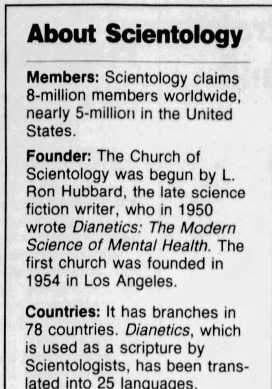 Counting Scientology 5 Reality Check Counting The Scientologists