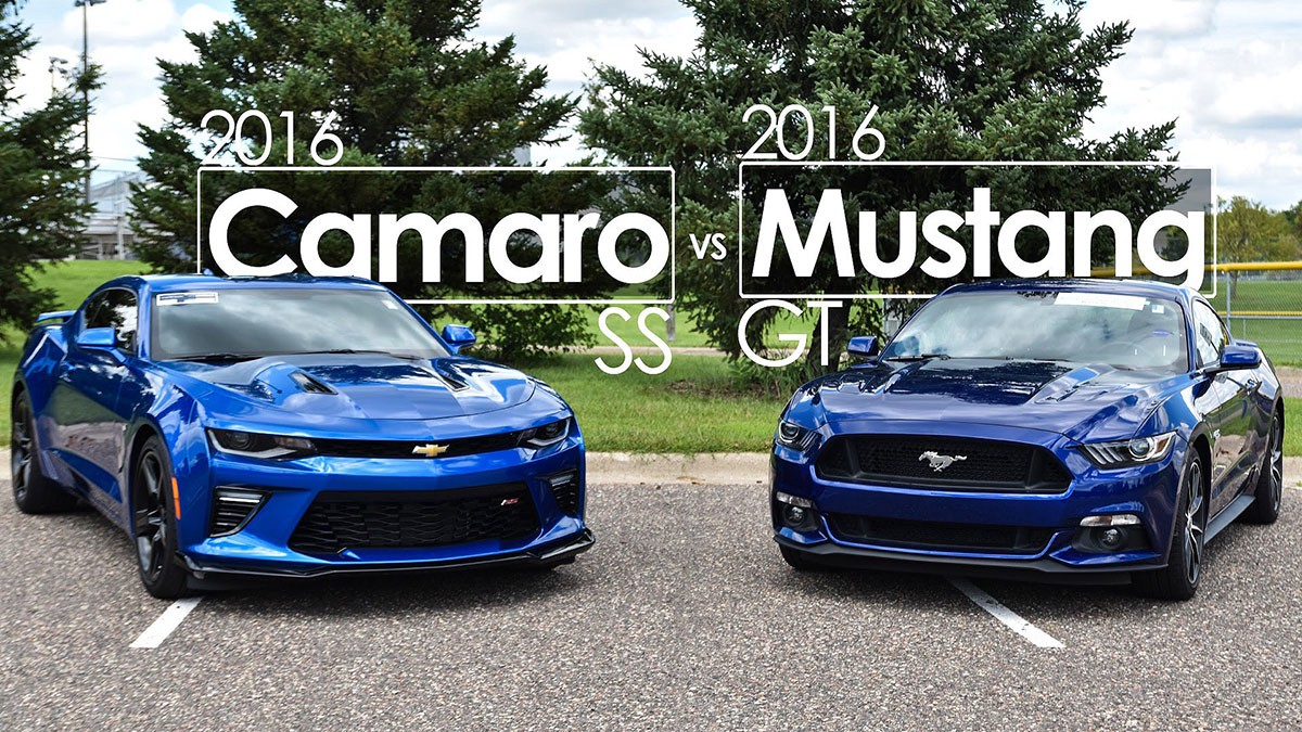 2016 Ford Mustang Gt Vs Chevrolet Camaro Ss Comparison Driving Reviews