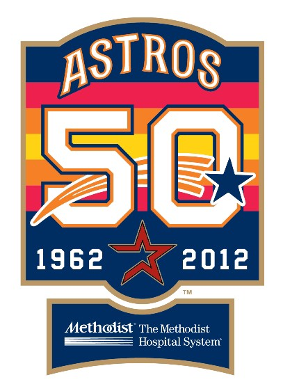 cfe79d08 Astros reveal 50th anniversary logo and celebration plans for 2012