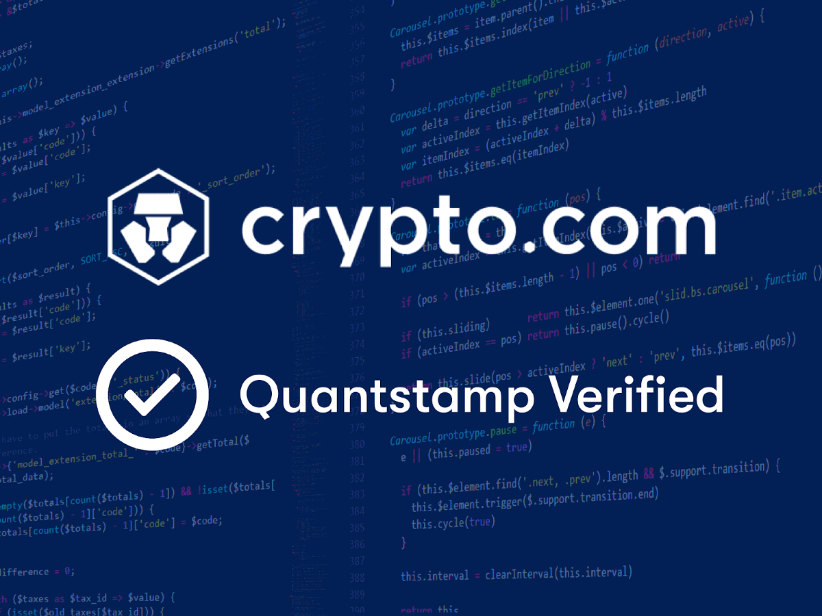 <bold>Quantstamp</bold> Secures Crypto.com Chain to Drive Faster and Easier Cryptocurrency Payments