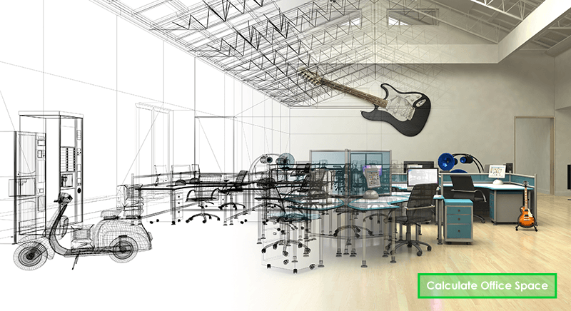 Office Space Design Concept Take advantage of our free online open office space calculator to find out  how much space you could save with an open office design concept.