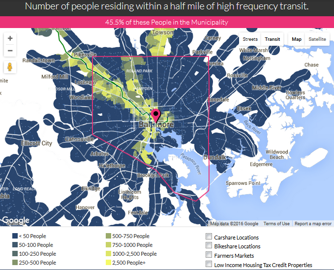 Any Transit Versus Frequent Transit In Baltimore Ideal City - Where is baltimore