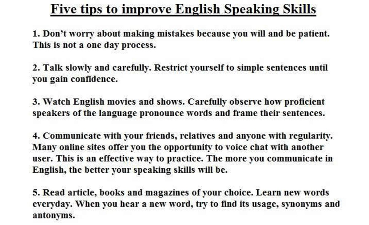 How to Improve Your English Speaking Skills pictures