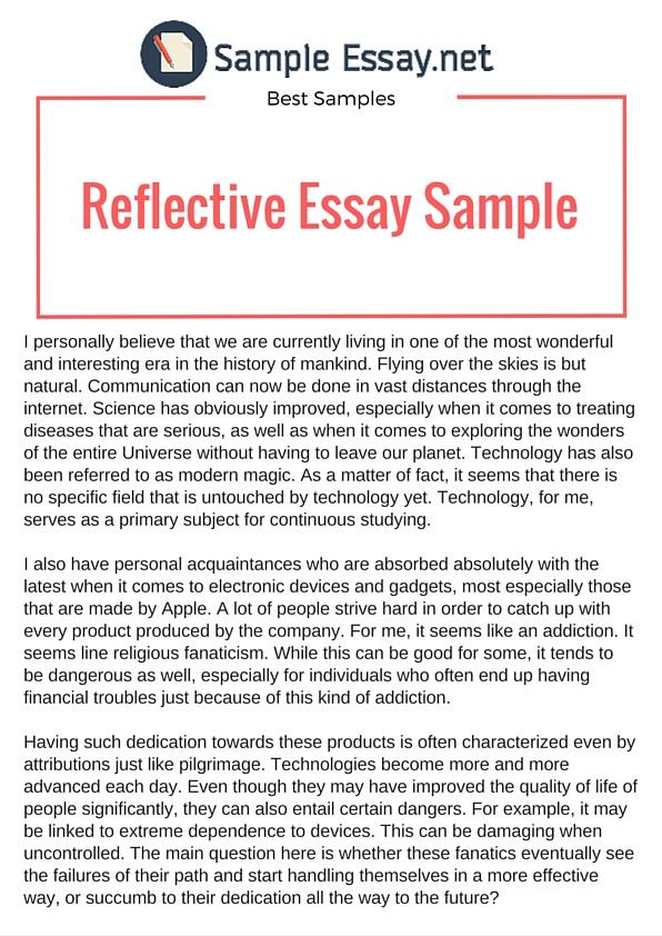 Example of reflective essay that really stand out sample essay
