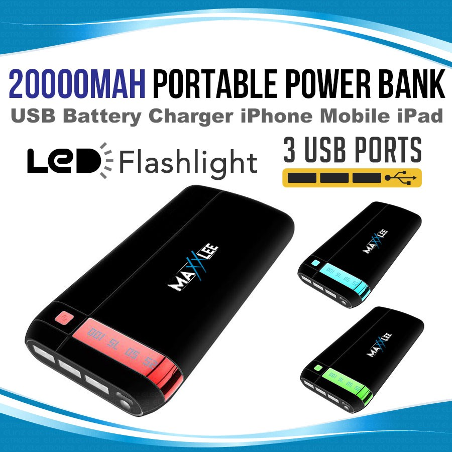 20000mah Power Bank Portable Usb External Battery Charger Iphone Circuit Mobile Phone Ipad