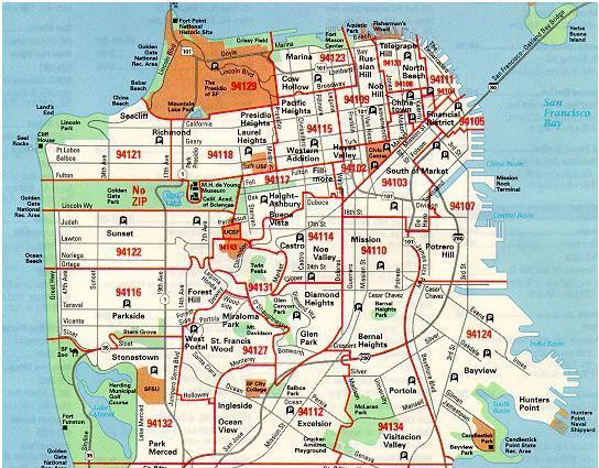 San Francisco Zip Codes Map | Zip Code MAP